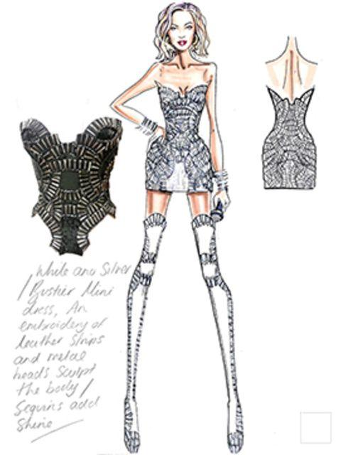 <p>Versace Atelier opening look for Beyoncé's concert</p>
