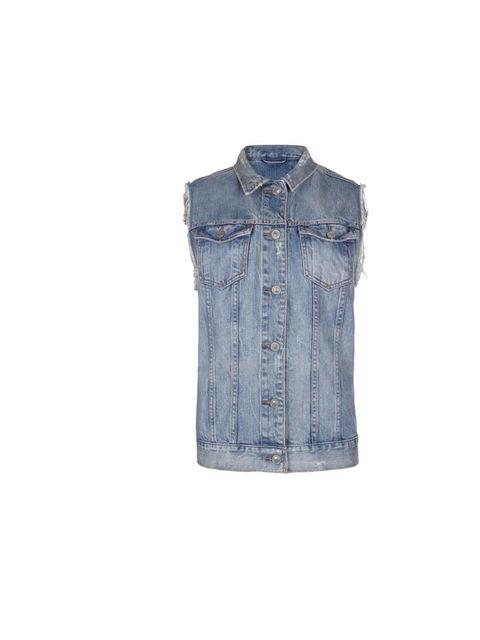 "<p><a href=""http://www.allsaints.com/women/coats/allsaints-kiku-denim-gilet/?colour=21&category=490"">All Saints</a> 'Kiku' denim sleeveless jacket, £75</p>"
