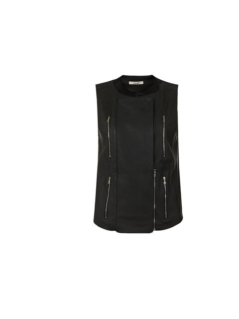 "<p>J Brand 'Renee' sleeveless leather jacket, £750, at <a href=""http://www.harrods.com/product/renee-leather-vest/j-brand/000000000003031824?cat1=bc-j-brand-rtw&amp&#x3B;cat2=bc-j-brand-rtw-all"">Harrods.com</a></p>"
