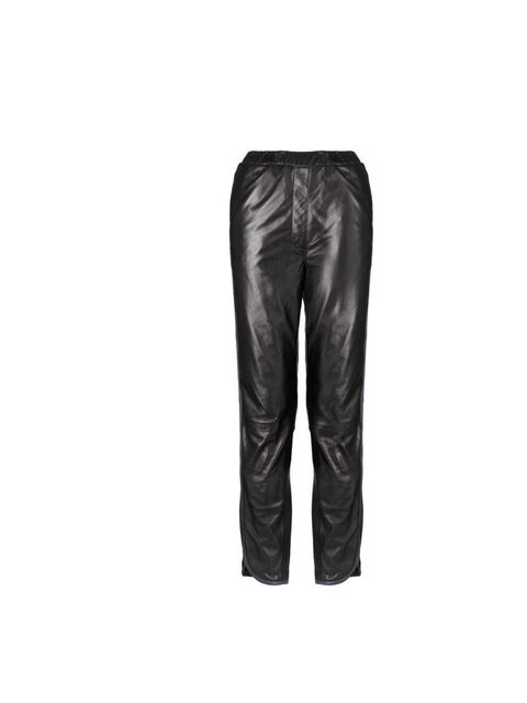 """<p><a href=""""http://www.whistles.co.uk/fcp/categorylist/dept/shop?resetFilters=true"""">Whistles</a> leather trousers £350</p>"""