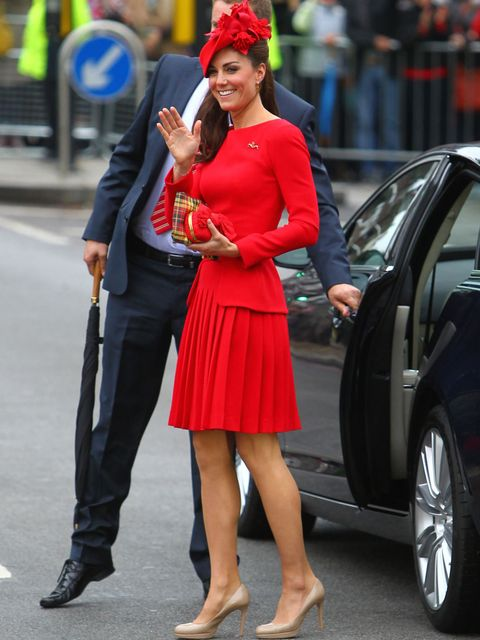 <p>The Duchess of Cambridge in Alexander McQueen on Sunday 3 June</p>