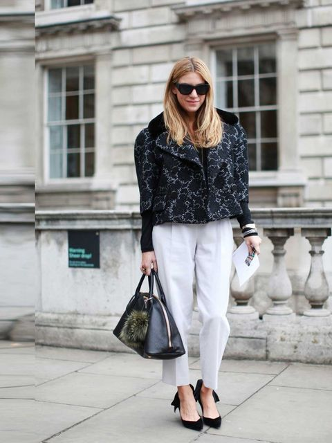 "<p>Dani Stahl wears Chanel sunglasses, Louis Vuitton Jacket and shoes, Miu Miu bag and <a href=""http://www.elleuk.com/catwalk/designer-a-z/unique/spring-summer-2014"">Topshop</a> trousers.</p><p><a href=""https://mail.hearst.co.uk/owa/14.2.309.3/scripts/pre"