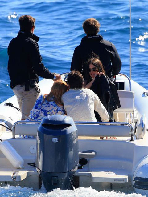 Lindsay Lohan goes yacht hopping in Cannes, looking loved up with her fiance Egor Tarabasov
