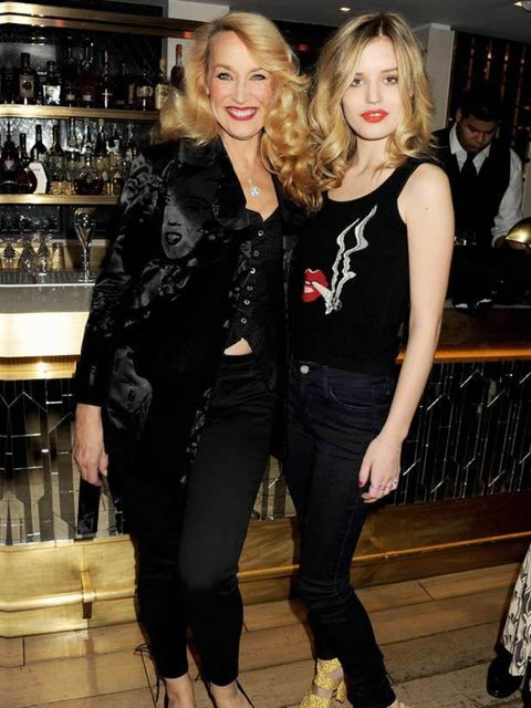 "<p><a href=""http://www.elleuk.com/content/search?SearchText=jerry+hall&amp;SearchButton=Search"">Jerry Hall</a> &amp; daughter <a href=""http://www.elleuk.com/starstyle/style-files/(section)/georgia-may-jagger"">Georgia May Jagger</a> attend a dinner celebra"