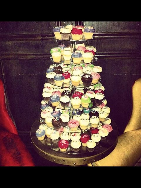 <p>Cupcake tower at ELLE Sessions</p>