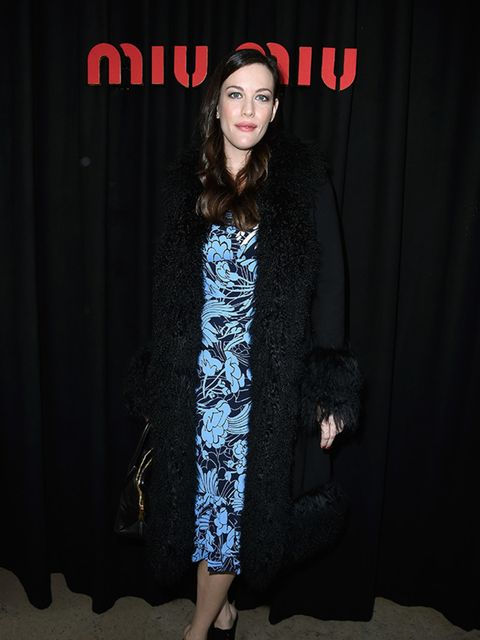 Liv Tyler at Miu Miu, during s/s 2015 Paris Fashion Week.