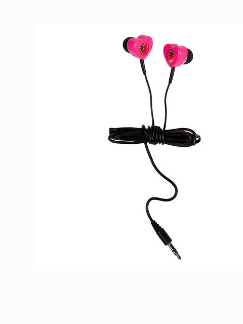 "<p>Very girlie and cute, and we love them. Marc by Marc Jacobs earbuds, £35, at <a href=""http://www.stylebop.com/uk/product_details.php?id=384271"">Stylebop.com</a></p>"
