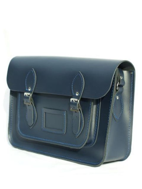 """<p>This spring/summer utility is a big trend. Accessories like this satchel are not only nice to look at, they're practical too.</p><p>Leather satchel, £66.39 by <a href=""""http://www.cambridgesatchel.co.uk/15-navy-satchel-118-p.asp"""">The Cambridge Satchel C"""