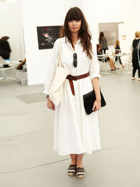 "<p>Stefania Borras, Frieze New York</p><p>Datura dress, Wrangler belt, Loewe clutch, Acne sunglasses, shoes from Barcelona.</p><p><a href=""http://www.elleuk.com/style/street-style/frieze-london-2013-street-style-art-fair""></a></p><p><em><a href=""http://ww"
