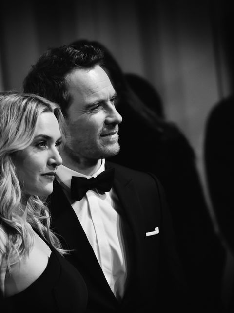 Michael Fassbander and Kate Winslet pose for the photographers at BAFTA 2016