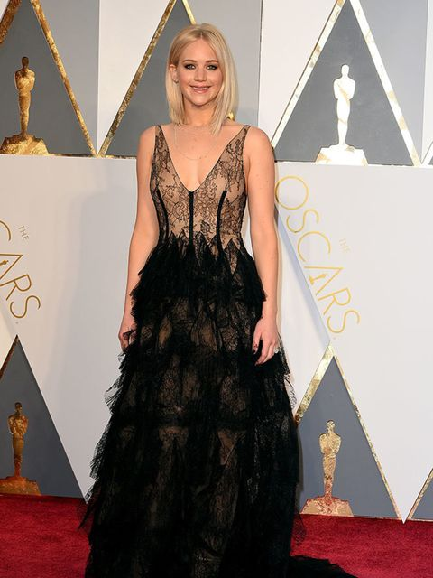 <p>Jennifer Lawrence in Dior at the Oscars in LA, February 2016.</p>