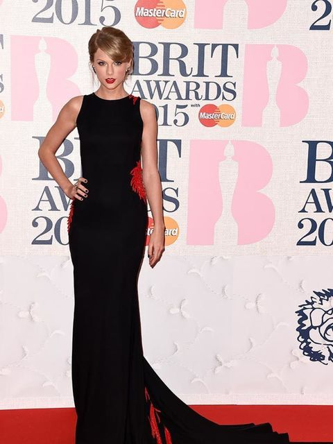 <p>Taylor Swift wears Roberto Cavalli at the BRIT Awards 2015 in London</p>