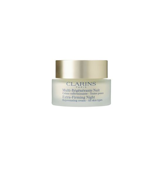 """<p>The light, gel-like texture instantly lifts the skin while the active botanical ingredients leave you looking like you've had 12 hours' sleep.</p><p><em><a href=""""http://www.clarins.co.uk/Extra-Firming%20Night%20Cream%20%22All%20Skin%20Types%22/C0104080"""