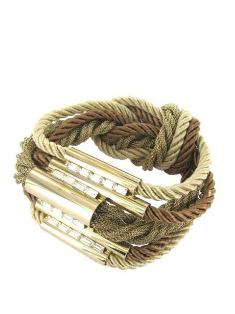 "<p><a href=""http://www.delphinecharlotteparmentier.com/13-bracelets"">Delphine-Charlotte Parmentier</a> rope bracelet, £155</p>"
