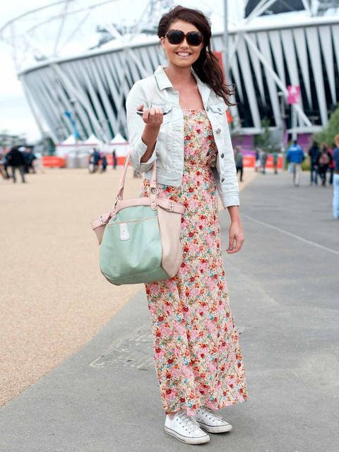 <p>Molly Cutler, 21, Student.Primark jacket, New Look dress, Converse trainers, Next bag, sunglasses from New York.</p>