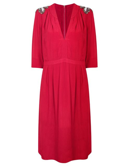 <p>Clements Ribeiro Swan red dress, £75</p>