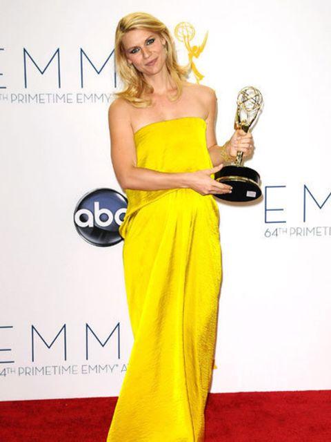 <p>Claire Danes winning an Emmy Award</p>