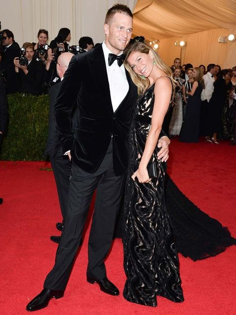 <p>Tom Brady and Gisele Bündchen at the Costume Institute Gala 2014 honouring Charles James: Beyond Fashion.</p>