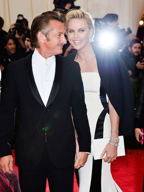 <p>Sean Penn and Charlize Theron at the Costume Institute Gala 2014 honouring Charles James: Beyond Fashion.</p>