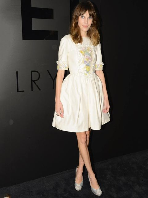 <p>Alexa Chung attends Chanel's 80th Anniversary of the 'Bijoux de Diamants' collection, New York. </p>