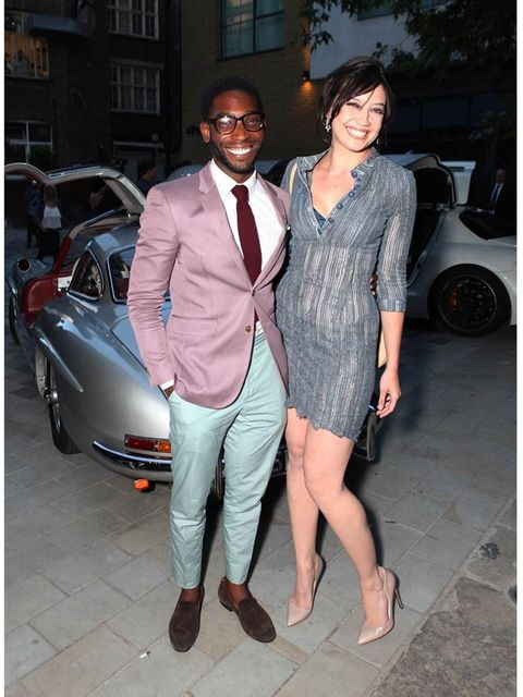 <p>Tinie Tempah and Daisy Lowe at the closing party for London Collections: Men.</p>