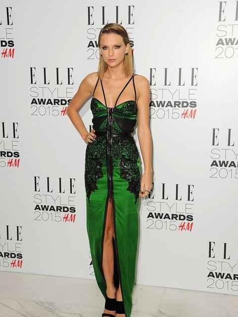 "<p><a href=""http://www.elleuk.com/tags/taylor-swift"">Taylor Swift</a>in <a href=""http://www.elleuk.com/tags/julien-macdonald"">Julien Macdonald</a> at the ELLE Style Awards, London, February 2015.</p>"