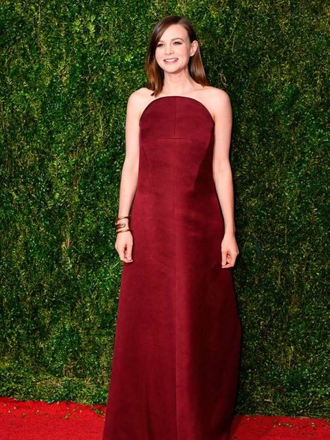 <p>Carey Mulligan wears Balenciaga to attend the 69th Annual Tony Awards in New York, June 2015.</p>
