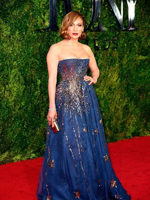 <p>Jennifer Lopez in Valentino at the 69th Annual Tony Awards in New York, June 2015.</p>