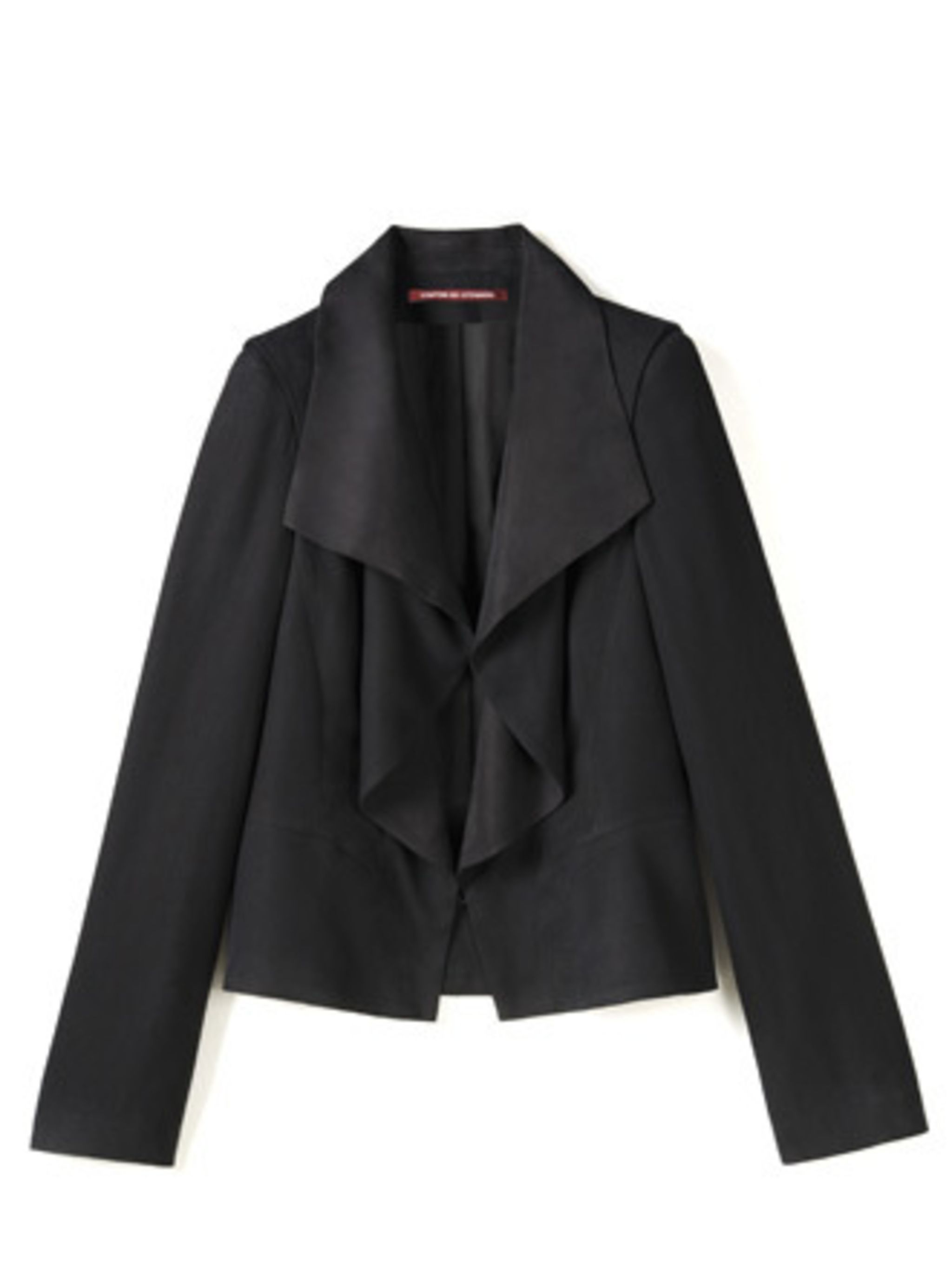 <p>Everyone should own a black blazer. This ruffle version from Comptoir is more feminine than the boyfriend blazers that have ruled for the past few seasons. </p><p>Jacket, £184 by Comptior des Contonniers. For stockists call 0207 792 9580</p>
