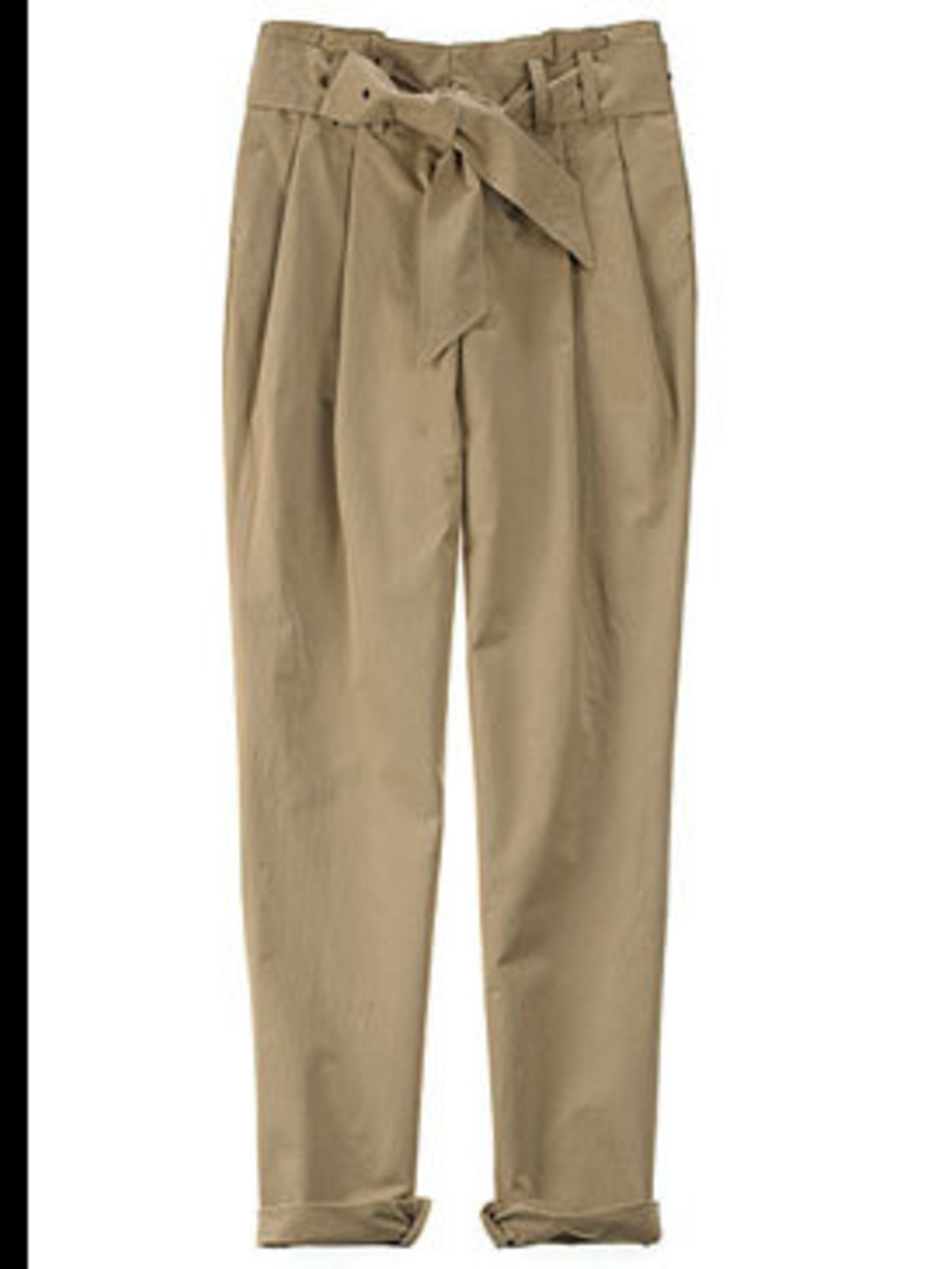 "<p>Pleated chinos, £262.90, by Boy by Band of Outsiders at <a href=""http://www.lagarconne.com/store/item.htm?itemid=4337&sid=564&pid=561"">La Garconne</a>.</p>"
