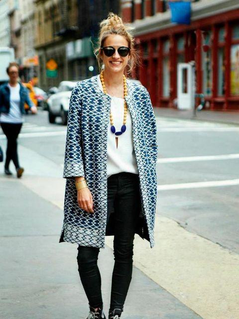 Ronny Sharon.  Balsh coat, Berenince-Paris shirt, Current Elliot trousers, Dior sunglasses.