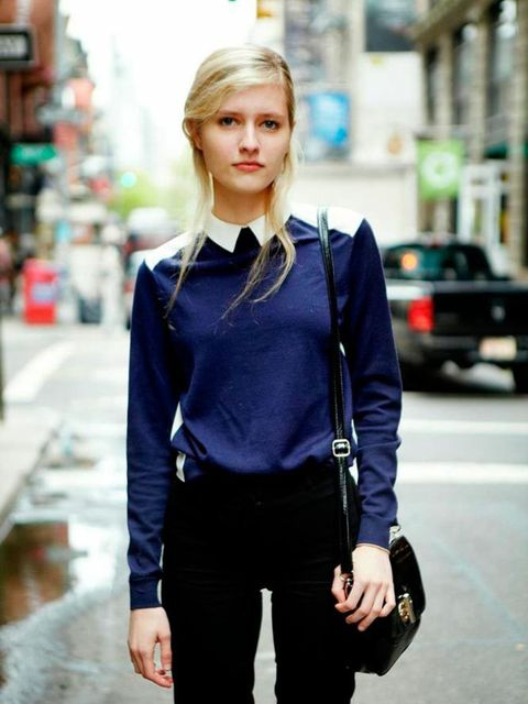 Ana Schurman. H&M Sweater and trousers.