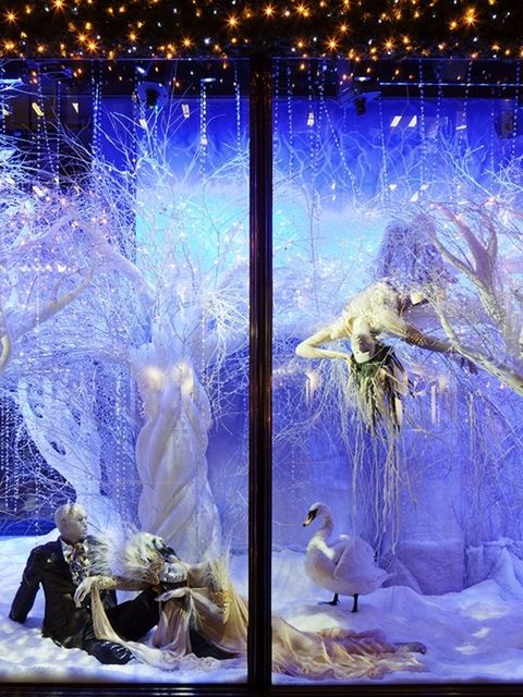 <p>Last but certainly not least is the scintillating Swarovski-encrusted window display at Harrods. Designed to resemble a fantastical crystal forest, each window is decorated with a sparkling hedgerow displaying some of the many enchanting pieces feature