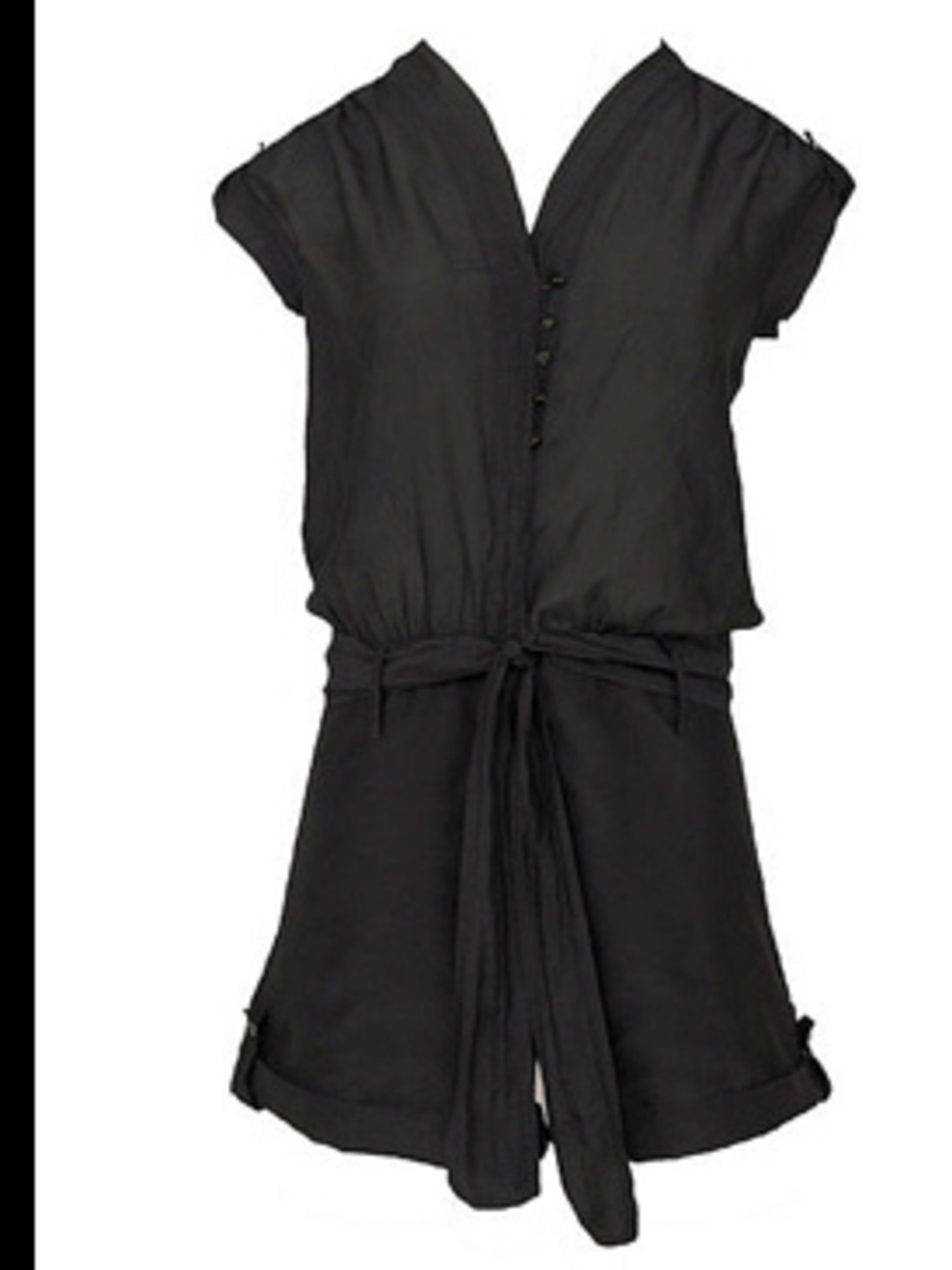 "<p>Playsuit, £95.23 by Young Fabulous and Broke at <a href=""http://www.bunnyhug.co.uk/fashionshop/gbu0-prodshow/Young_Fabulous_and_Broke_Silk_Cotton_Mix_Black_Playsuit.html"">Bunnyhug</a></p>"