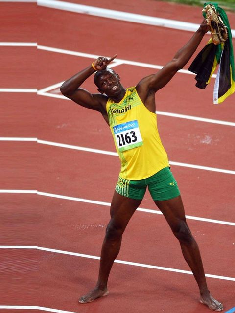 """<p>He's the planet's fastest man, is eight times world champion, six times <a href=""""http://www.elleuk.com/star-style/news/british-fashion-makes-its-mark-on-the-olympics"""">Olympic</a> champion, three times world sports person of the year and to top it all,"""