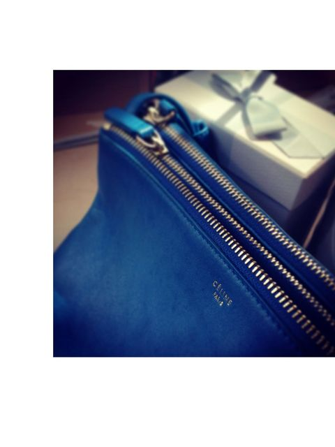 <p><strong>Phoebe Sing, Designer</strong></p><p>My little blue Céline bag I will always love. It was my big present to myself when I was made designer at ELLE. I'll always treasure it and it reminds me that hard work pays off.</p>