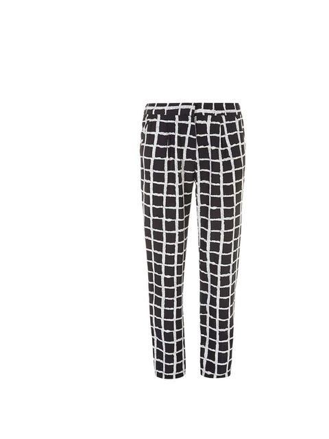 "<p>I'll wear these with a white blouse, leather jacket and bright pink shoes.</p><p>- Diana Gavrilina, Digital Picture Intern</p><p><a href=""http://www.dorothyperkins.com/en/dpuk/product/clothing-203535/trousers-leggings-203565/black-and-ivory-check-trous"