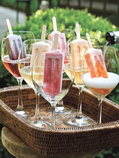 Popsicles or ice lollies - a very jolly way to spruce up a fizzy cocktail.