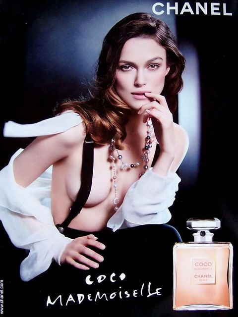 <p>Keira Knightley in a Chanel fragrance ad</p>