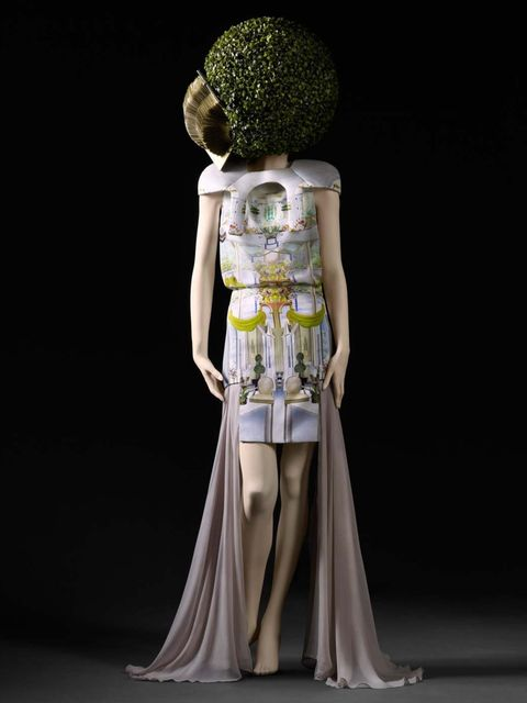 <p>Mary Katrantzou printed silk dress, SS11</p>