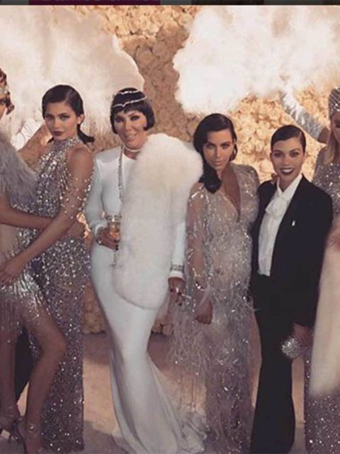 507274b63718 Kris Jenner s 1920 s Themed 60th Birthday Party