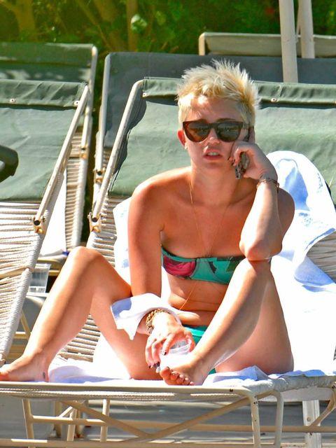 <p>Miley Cyrus in Palm Beach</p>