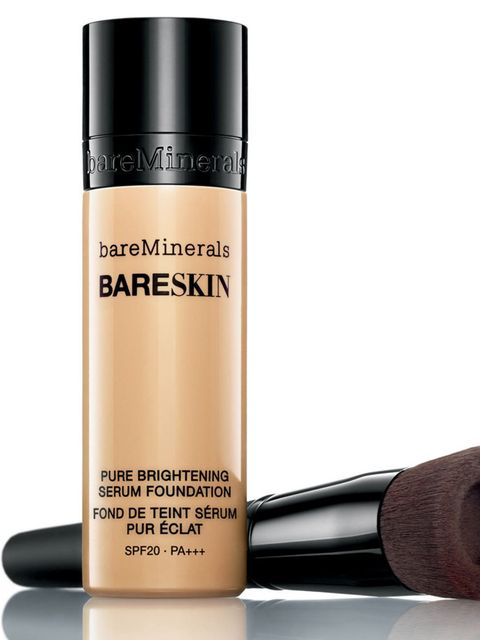 """<p><a href=""""http://www.bareminerals.co.uk/bareSkin-Pure-Brightening-Serum-Foundation-SPF20/UKmasterbareskin,en_GB,pd.html"""">bareMinerals bareSkin Pure Brightening Serum Foundation, £26</a></p>  <p>A natural looking base calls for an ultra-thin foundation w"""