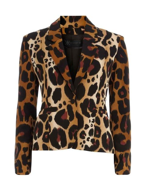 <p>Kardashian Kollection animal print blazer £50</p>