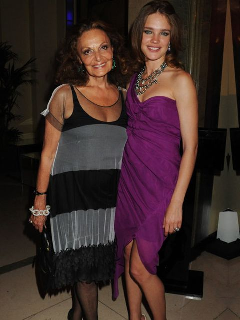 <p>Diane von Furstenberg and Natalia Vodianova </p>
