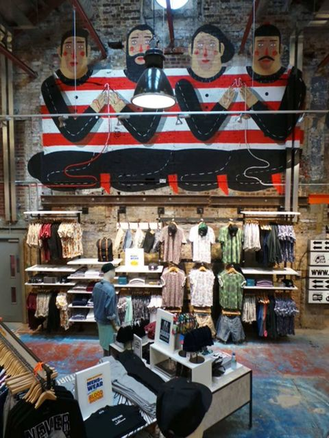 <p>Inside Urban Outfitters' new Camden store</p>