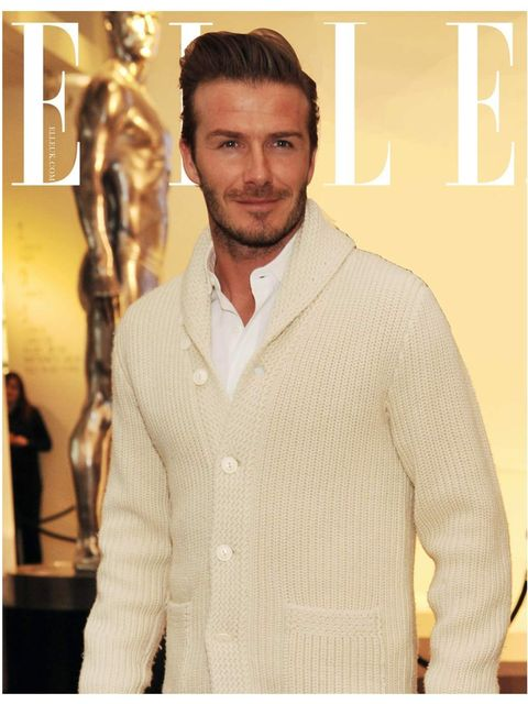 <p>Perhaps David looking cosy in a thick knit cardigan?</p>