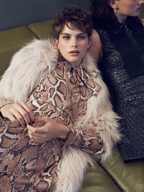 <p>ELLE UK September Issue 'Style for Less'</p>  <p>Dress: River Island</p>  <p>Faux fur stole: New Look</p>  <p>Photographer: Hodur Ingason</p>