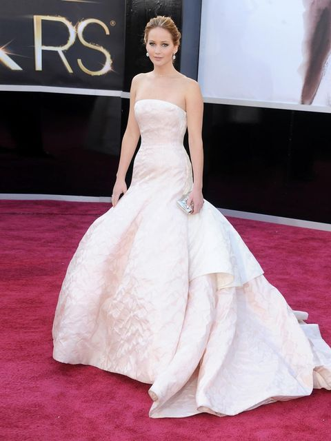 """<p><a href=""""http://www.elleuk.com/beauty/news/jennifer-lawrence-dyes-hair-black-after-oscars-win"""">Jennifer Lawrence</a> in <a href=""""http://www.elleuk.com/catwalk/designer-a-z/christian-dior/couture-ss-2013"""">Dior</a><em>, </em><a href=""""http://www.elleuk.co"""