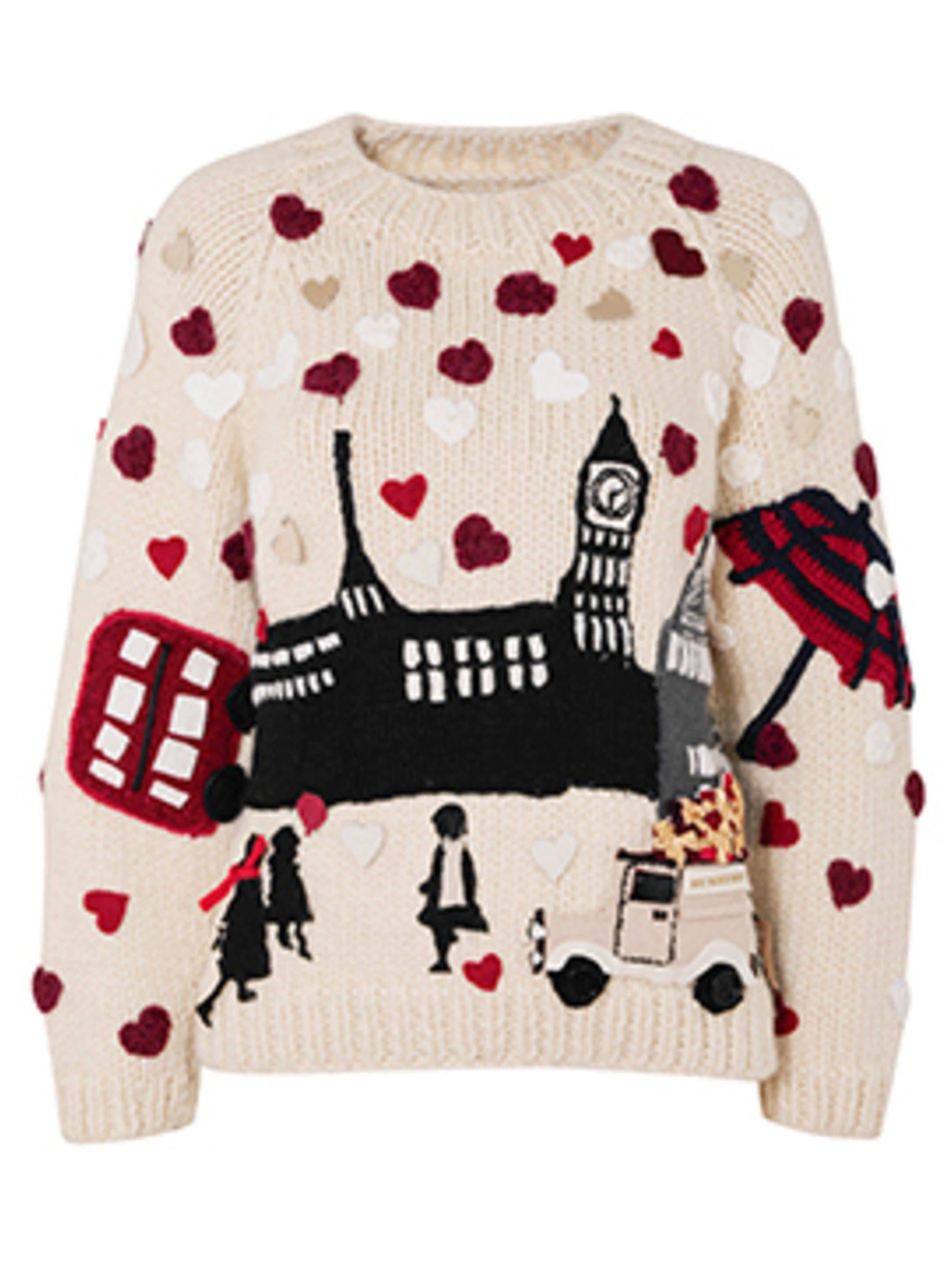 <p>Save The Children Christmas jumper by Burberry</p>